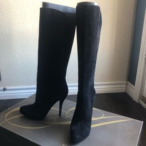 Enzo Angiolini Suede Knee High Boots